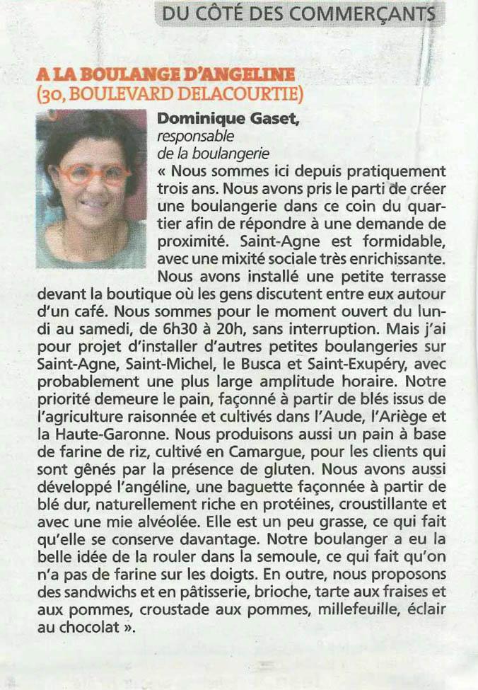 Article paru dans un magazine local